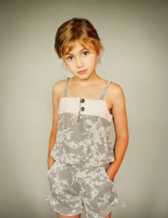 SALE--Figgy's ZEPHYR romper and sundress pattern with woven LABEL -- sizes 18 mos to 8/9 included
