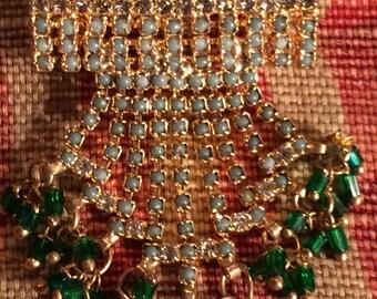 Festive Rhinestone Slide Pendant for Necklace