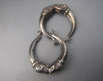 Ram Sterling Hoop Earrings 676.