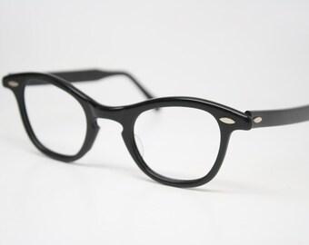 Black  Retro Glasses Vintage Eyeglass Frames 1960's Cateye Glasses vintage eyewear Vintage Eyeglasses