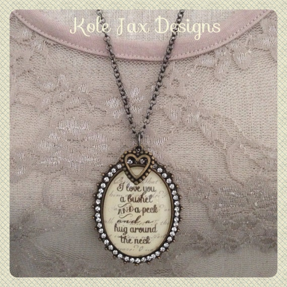 I Love You A Bushel And A Peck Necklace: Items Similar To I Love You A Bushel And A Peck And A Hug