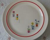 Vintage American Limoges Flower Shop Plates Set of 4