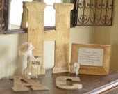 Three Letter Guest Book Alternative by Burlap and Linen Co.