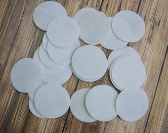 "YOU PICK quantity  White 1.5"" Felt circles for DIY Crafts, flower backing felt circles, felt supply, diy headband"