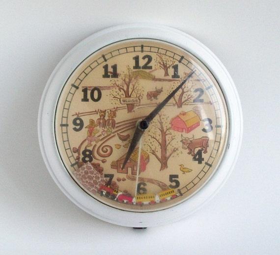 Vintage Westclox Choo Choo Electric Wall Clock Vintage Train