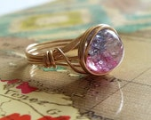 Wire Wrapped Jewelry Handmade, 14kt Gold-Filled Jewelry, Two Toned Ring