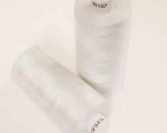 White Sewing Thread by Coats Moon - Polyester 120s General Purpose - 1000 yards