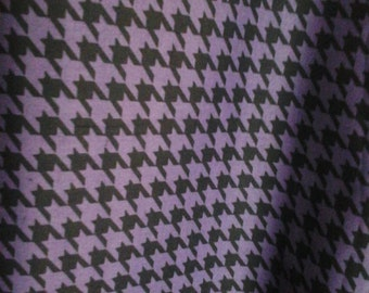 Purple and Black Houndstooth Fabric