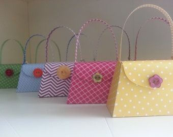 Girlie Purse Party Favors - Set of 20, Birthday Party Favors, Bridal Shower Favors, Baby Shower Favors, Tea Party Favors