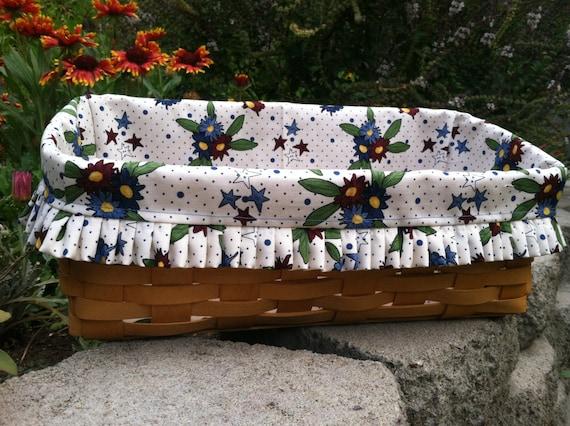 Handmade Longaberger Basket Liners : Items similar to custom fabric liners for longaberger