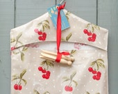Gorgeous Oilcloth Peg Bag - Hand Made