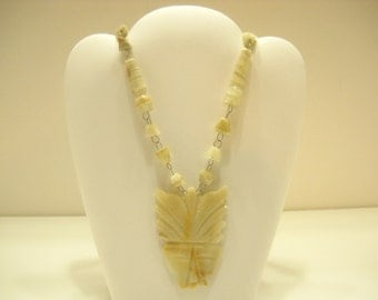 Hand Carved Onyx Necklace (4188)