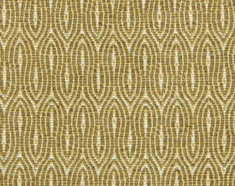 Modern Gold Upholstery Fabric by the Yard - Geometric Gold Woven Pillow Covers - Small Scale Gold Home Decor Fabrics - Padded Headboard
