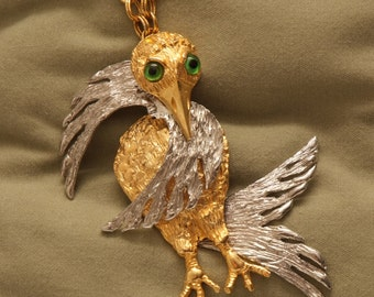 Articulated MCM Chunky Bird Necklace