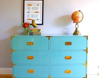 Custom Built Campaign Dresser -  High Gloss Lacquer