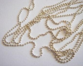 Silver tone Ball Chain 24''