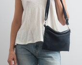 Dark Blue Bag Faux Suede Purse Small Bag Vegan Suede Bag Crossbody Bag Blue Bag Minimalist Bag Miini Bag Women Fall Accessories Gift For Her