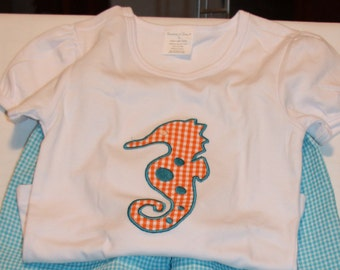 Appliqued Seahorse T shirt