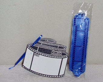 Set of Four (4) Film Strip Gift Bows and Tags Package of 4