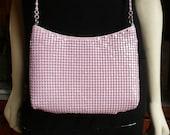 Vintage 80s Cotton Candy Pink Mesh Shoulder Bag Purse