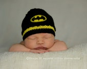 Batman Baby Hat, Baby Batman, Batman Beanie, Baby Boy Hats, Superhero Hat,Baby Christmas Gift, Batman Baby, Knit Boy Hat, Newborn Batman Hat