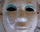 Unique Blue Eye LId Raku Mask