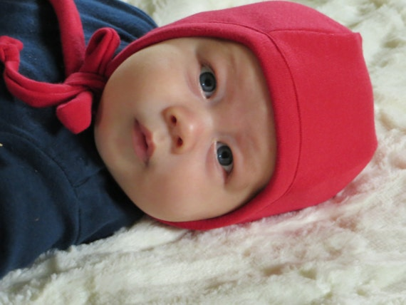 Red Baby Pilot Cap, Pilot Hat,Lil Nell Hat for Babies, Red Pilot Hat, Hat for Babys Hearing Aids