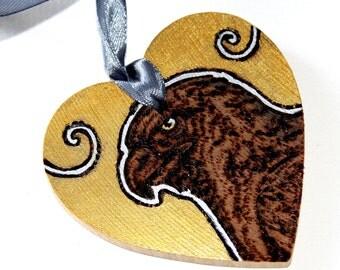 Eagle Gold Woodburning Pyrography - 'Wish' Heart