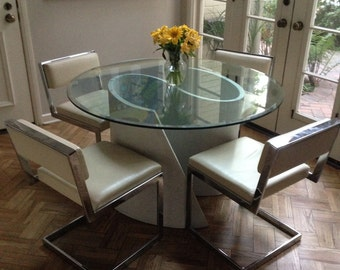 """Glass Top """"S"""" Table"""