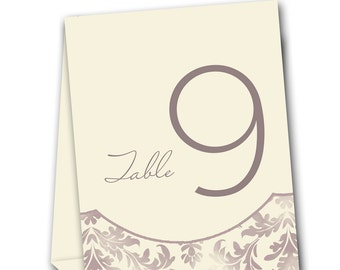 Retro Vintage Swirl Table Tent Numbers