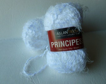 Yarn Sale  - White Principessa by Aslandtrends Fantasy Luxury Yarns