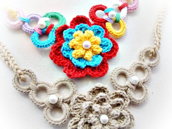 Wonderful and Simple Crochet Necklace Pattern from ...