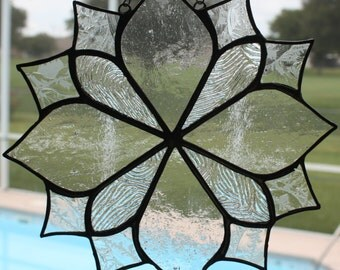 Clear Textured Glass Suncatcher