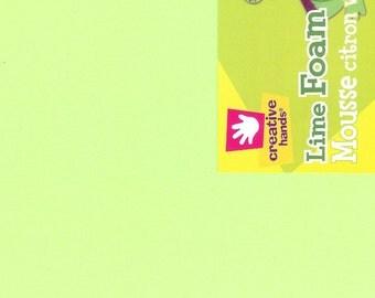 Smart Foam Lime Green 12 x 18  Six Pieces Creative Hands by Fibre Craft Supplies