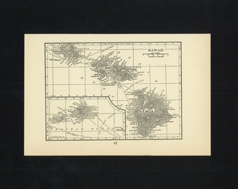 Vintage Map Hawaii From 1926 Original
