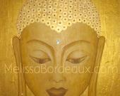 Custom Buddha Painting - Gold