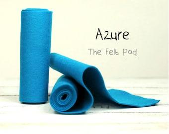 "100 Percent Wool Felt Roll in Color AZURE - 5"" X 36"" Wool Felt Roll - Merino Wool Felt - Blue Wool Felt"