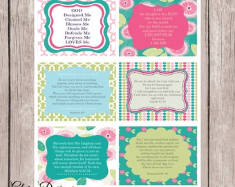 Prayer Cards Prayer Scripture cards diy printable cards