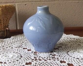 Vintage Japanese Cornflower Blue Vase
