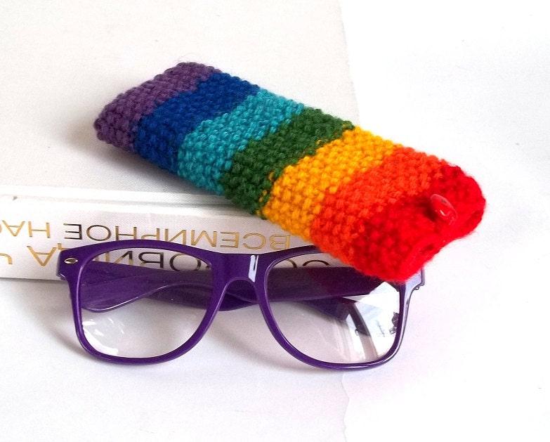 rainbow glasses reading glasses holder by mallinadesign