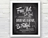 Fear Not to Do Good - Be Faithful Scripture Quote - INSTANT DOWNLOAD - 8x10