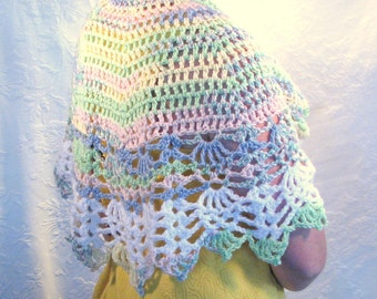Easter Sunrise Service crocheted  shawl
