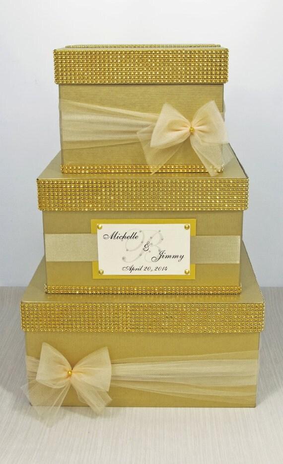 3 Tier Wedding Gift Box : Card box / Wedding Box / Wedding money box3 tierPersonalized ...