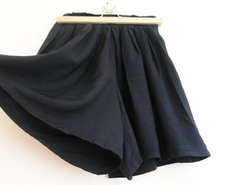 Vintage black panty skirt/ high waist