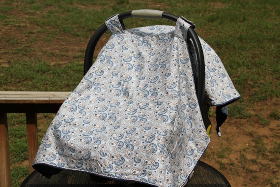 items similar to light blue paisley car seat cover on etsy. Black Bedroom Furniture Sets. Home Design Ideas