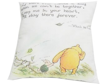 Winnie the Pooh Pillow Cover Keep Me Quote Pillow envelope back Classic Pooh