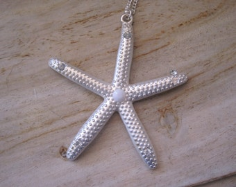 Starfish Necklace - Silver Starfish Necklace - Beach Wedding Necklace - Beach Wedding - Wedding Jewelry