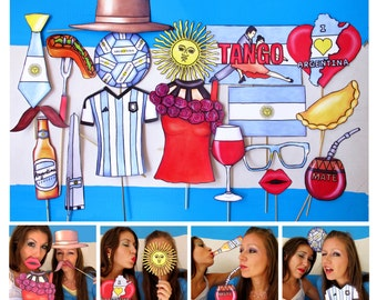 READY MADE Argentina photo booth props - perfect for your Argentinian friendship celebration, to celebrate your country or any Argentina fan