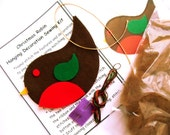 Robin Sewing Kit Felt Christmas Decorations Craft Kit Christmas Robin Sewing Kit - TheWoollyKnitter