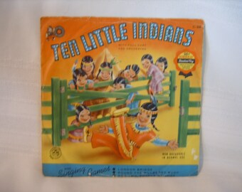 Ten Little Indians Bonus Play Cricket Records 45 rpm vinyl